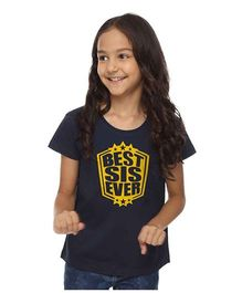 BonOrganik Best Sis Ever Tee - Navy Blue