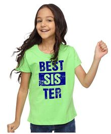 BonOrganik Best Sister Tee - Bright Green