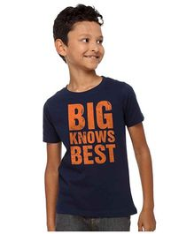 BonOrganik Big Knows Best Tee For Boys - Navy Blue