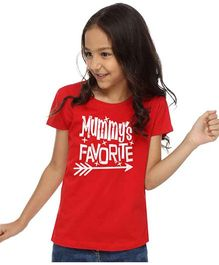 BonOrganik Mommys Tee For Girls - Red