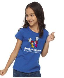 BonOrganik Brother & Sister Fight Top - Royal Blue
