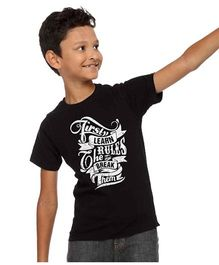 BonOrganik Learn The Rules And Then Break Them Tee For Boys - Black