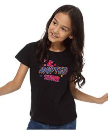 BonOrganik The Adopted Sister Top For Girls - Black
