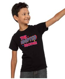 BonOrganik The Adopted Brother Print Tee For Boys - Black