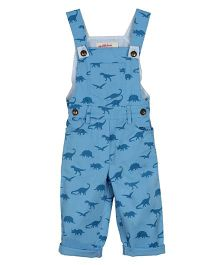 My Li'l Lambs Dinosaur Printed Full Length Dungaree - Blue