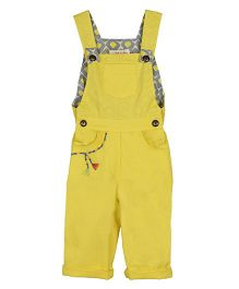 My Li'l Lambs Full Length Dungaree - Yellow