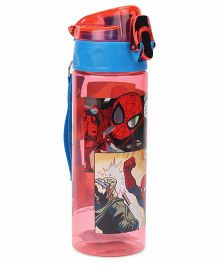 Marvel Spider Man Water Bottle Red & Blue - 600 ml