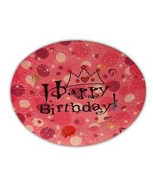 Partymanao Happy Birthday Princess Tiara Plates Pack Of 10 - Pink