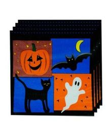 Partymanao Halloween Pumpkin Napkins - Pack Of 10