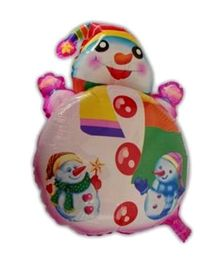Partymanao Snowman Shaped Foil Balloon - Pink
