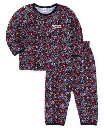 ToffyHouse Full Sleeves Night Suit Floral Print - Multi Color