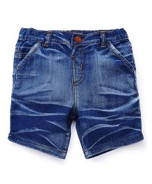 ToffyHouse Washed Denim Shorts - Blue