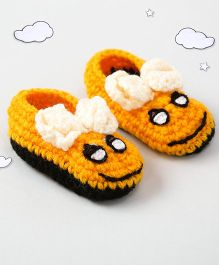 The Original Knit Bee Design Booties - Yellow