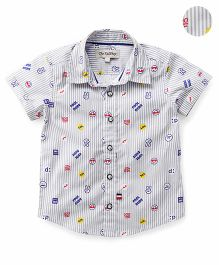 The KidShop Cool Dude Print Shirt - Grey