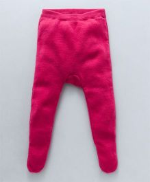 Yellow Apple Full Length Diaper Leggings - Pink