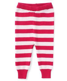 Yellow Apple Full Length Striped Bottoms - Pink