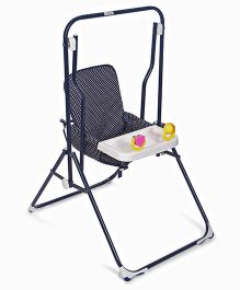 Mothertouch Garden Swing - Navy Blue White