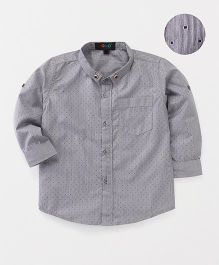 Robo Fry Full Sleeves Printed Shirt - Grey