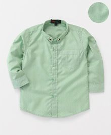 Robo Fry Full Sleeves Dotted Shirt - Light Green