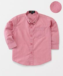 Robo Fry Full Sleeves Dotted Shirt - Pink