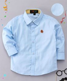 Robo Fry Full Sleeves Solid Shirt - Light Blue