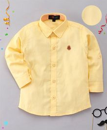 Robo Fry Full Sleeves Solid Shirt - Yellow