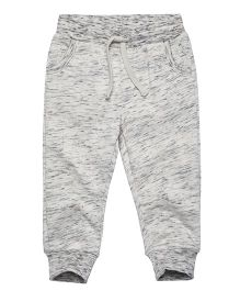 Fox Baby Full Length Track Pant With Pockets - Light Grey