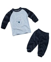Fox Baby Winter Wear Suits BLUE MELAN 3-6 M