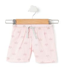 Pikaboo Shorts Crown Print - Baby Pink