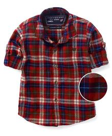 Jash Kids Full Sleeves Checks Shirt - Red