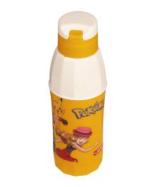 Pokemon Cool Sip Water Bottle Yellow Printed - 550 ml