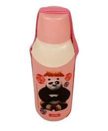 Kung Fu Panda Carry Cool Water Bottle Peach - 600 ml