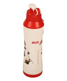 Kung Fu Panda Icy Cool Water Bottle Off White Red - 750 ml