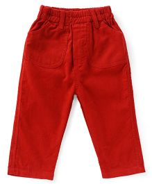 Cucumber Full Length Corduroy Pant - Red