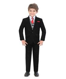 Jeet Ethnics Party Wear Suit Set - Black White