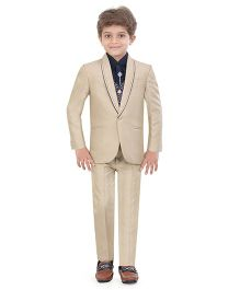 Jeet Ethnics Party Wear Suit Set - Cream Navy