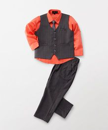 Robo Fry 3 Piece Party Suit With Tie - Orange