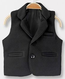 Robo Fry Sleeveless Solid Color Blazer - Black