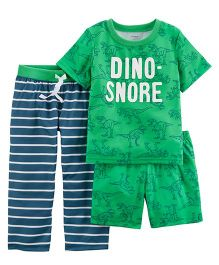 Carter's 3-Piece Jersey Night Suit - Green