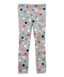 Carter's Polka Dot Leggings - Grey