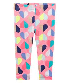 Carter's Heart Leggings - Pink