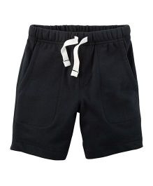 Carter's Easy Pull-On French Terry Shorts - Black
