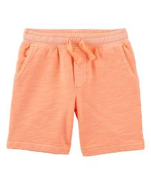 Carter's Easy Pull-On Knit Shorts - Orange