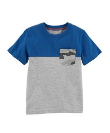 Carter's Colorblock Pocket Tee - Blue Light Grey