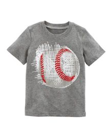 Carter's Baseball Jersey T-Shirt - Grey
