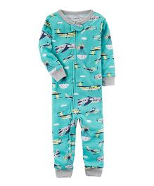 Carter's Infant Sleepsuit - Teal Blue