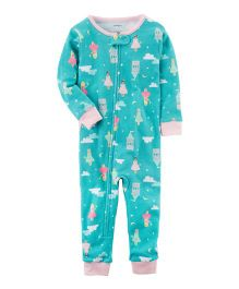 Carter's 1-Piece Snug Fit Cotton Footless PJs - Sea Green