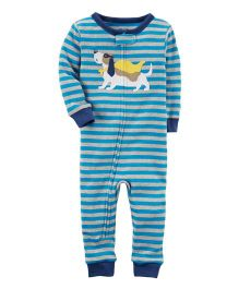 Carter's 1-Piece Snug Fit Cotton Footless PJs - Blue