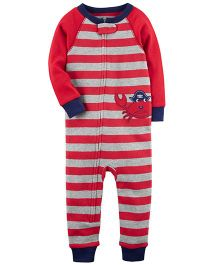 Carter's 1-Piece Crab Snug Fit Cotton Footless PJs - Red