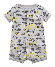 Carter's Construction Snap-Up Romper - Grey